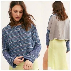 NWT Free People Catalina Pullover Sweater Blue XS